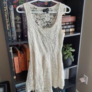Aritzia Dillema White Lace Dress
